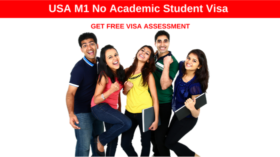Migrate to USA as a Student with USA M1 No Academic Student Visa
